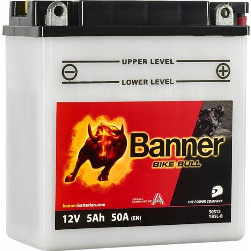 BANNER BIKE BULL SAVAS MOTOR AKKUMULÁTOR 50512 ( YB5L-B )