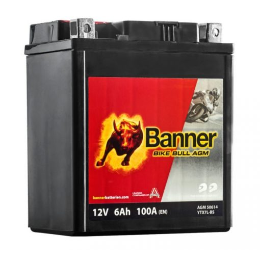 BANNER BIKE BULL MOTOR AKKUMULÁTOR AGM 506 14 ( YTX7L-BS )