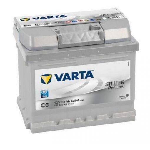 Varta Silver Dynamic 12V 52Ah 520En Jobb+ Autó Akkumulátor