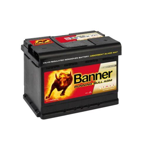 Banner Running Bull AGM 56001 12V 60Ah 640EN Jobb+ Akkumulátor