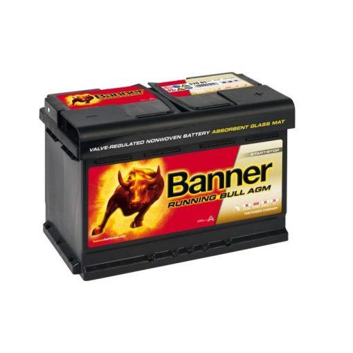 Banner Running Bull AGM 57001 12V 70Ah 720EN Jobb+ Akkumulátor
