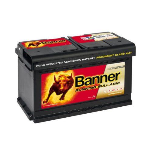 Banner Running Bull AGM 58001 12V 80Ah 800EN Jobb+ Akkumulátor
