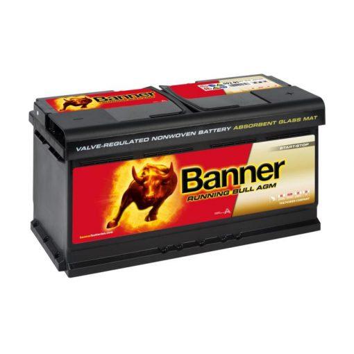 Banner Running Bull AGM 59201 12V 92Ah 850EN Jobb+ Akkumulátor