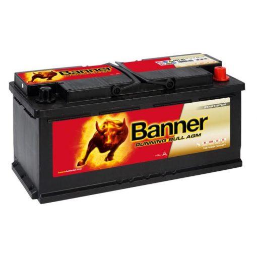 Banner Running Bull AGM 60501 12V 105Ah 950EN Jobb+ Akkumulátor