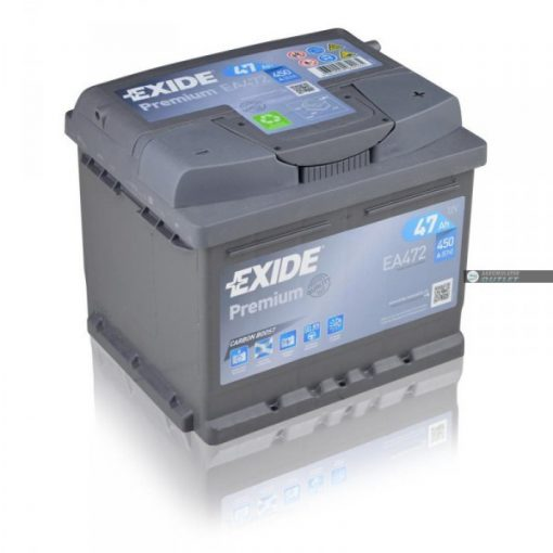 Exide Premium EA472 12V 47Ah 450En Jobb+ Autó Akkumulátor