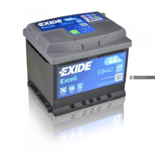 Exide Excell EB442 12V 44Ah 420En Jobb+ Autó Akkumulátor