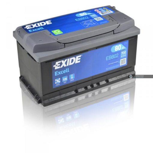 EXIDE EXCELL EB802 12V 80AH 700EN JOBB+ AUTÓ AKKUMULÁTOR