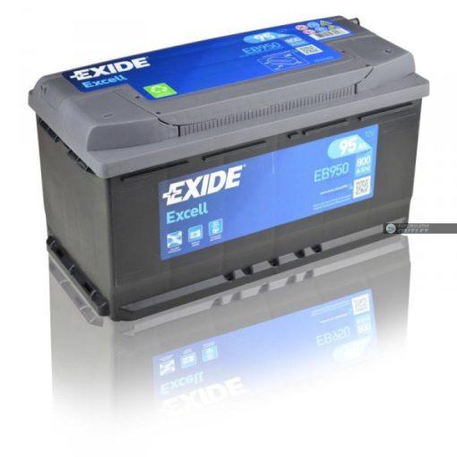 EXIDE EXCELL EB950 12V 95AH 800EN JOBB+ AUTÓ AKKUMULÁTOR