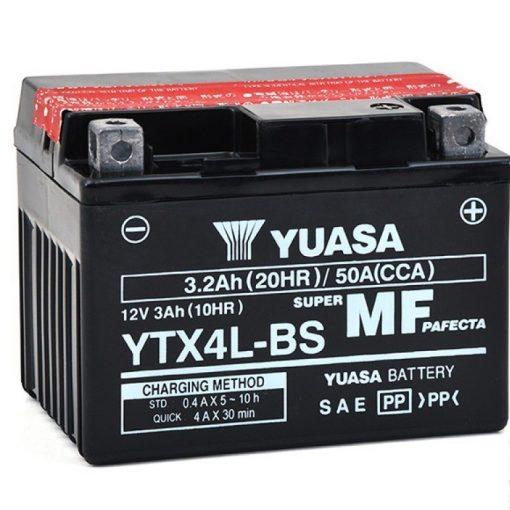 YUASA YTX4L-BS 12V 3.2Ah 50A MOTOR AKKUMULÁTOR